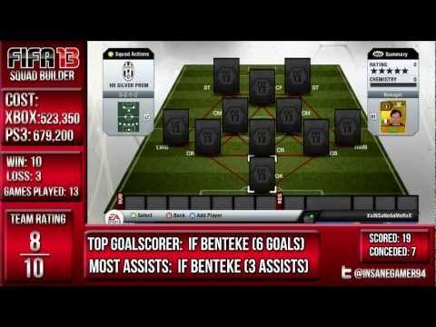 IF Benteke! Mayuka! 500k Silver BPL squad builder! - FIFA 13 ultimate team