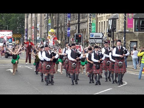 Perth Salute 2017 - Parade with visiting bands from India & Japan through Perth, Scotland