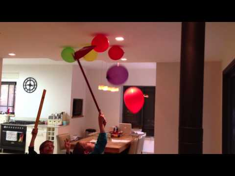 Why helium balloons fall off the ceiling?