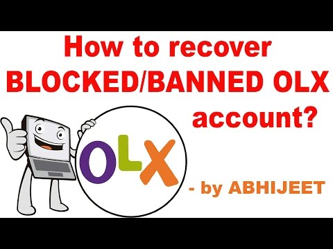 How to recover Banned/Blocked  OLX account?