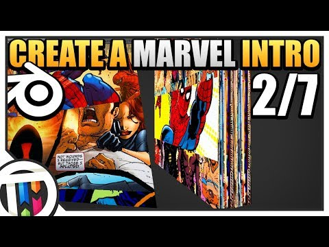 Blender Tutorial - How to make a Marvel Intro - Scrolling Comics (2/7)
