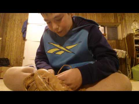 How to relace the fingers on a baseball glove