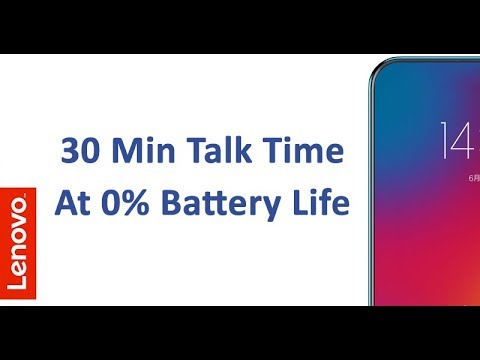 Lenovo Z5 To Offer 30 Minutes Talk Time Even At 0% Battery Life