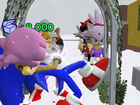 Sonic the Hedgehog and Amy Rose's Wedding in The Sims 2