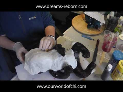 Making a Silicone Baby Doll - TARRA - Part 2: mother mould, seam and removing sculpt