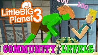 Community Levels - Little Big Planet 3 - Part 1 [ps4 Father And Son Gamplay]