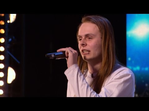 Britain's Got Talent 2015 S09E04 Aaron Sings a Death Rock Version of Frozen's Let It Go