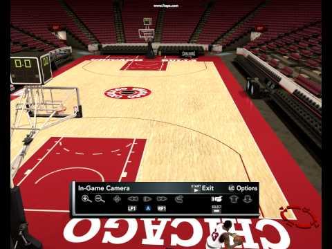 Young Michael Jordan Impossible shot through all field NBA2K12 practice