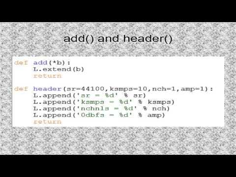 Tutorial 16. Csound Python Module