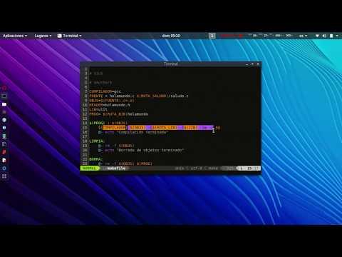 Ejemplo y uso de Makefile en LINUX para C++