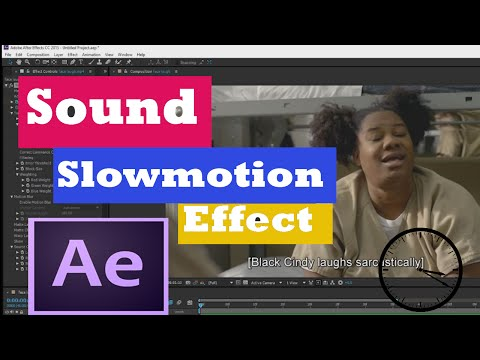 After Effects - Sound Slowmotion tutorial