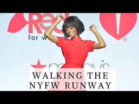 WALKING THE NYFW RUNWAY!!   MACYS RED DRESS COLLECTION   NYFW VLOG