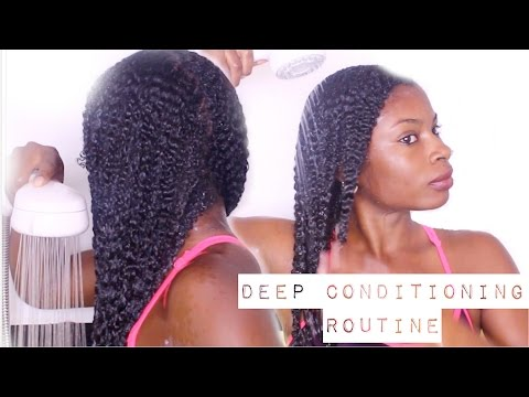 DEEP CONDITIONING  ROUTINE ON NATURAL HAIR