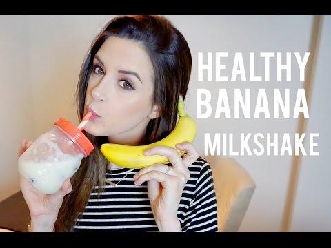 My Healthy Banana Milkshake Recipe!