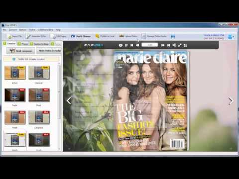 Tutorial to Generate Interactive Digital Magazine from PDF – Flip HTML5