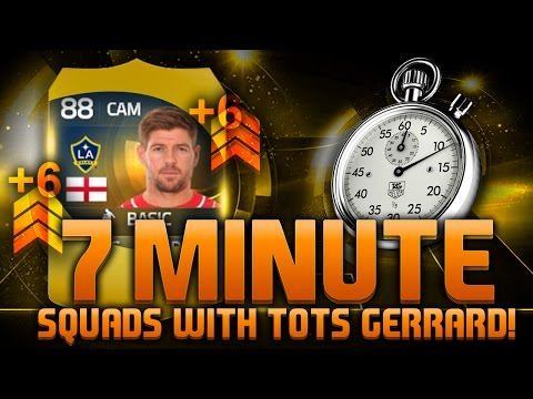 FIFA 15 - 7 MINUTE SQUADS!!! TOTS GERRARD!!! Fifa 15 Hybrid Squad Builder With MLS All Star Gerrard