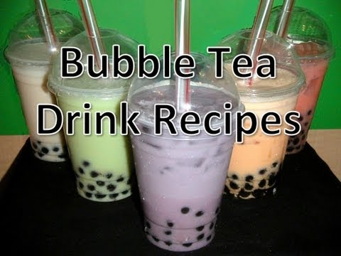 Bubble Tea Drink Recipes (Mango/Coconut/Taro/Papaya/Watermelon)