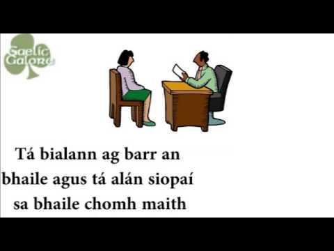 Leaving Certificate Irish Oral Conversation Example