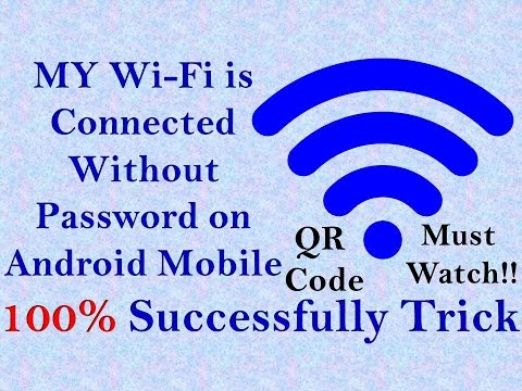 How to Connect WiFi without password in Android mobile QR CODE Successfully!!