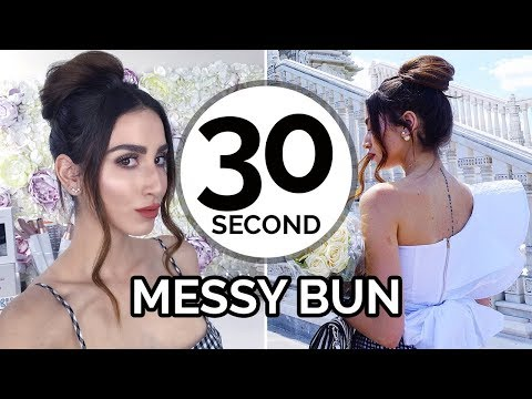30 Second Back To School Messy Bun
