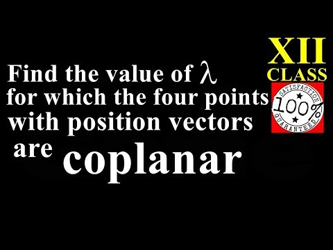 Q82 Class 12 Maths Find the value of lambda if four points with position vectors  are coplanar