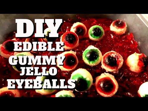 DIY Edible eyeballs | Gummy eyeballs | Halloween eyeballs