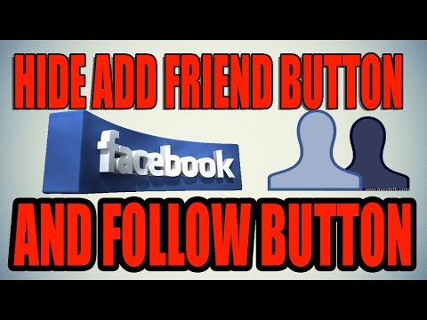 how to hide add friend message and follow button from facebook profile