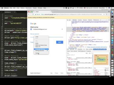 Login to Gmail account using Selenium Webdriver and Python