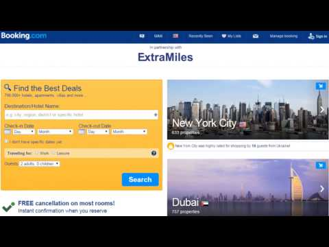 earn extra Miles with booking.com and Get discount up to 35%