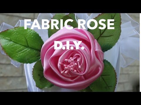 How to make fabric roses.Tutorial.