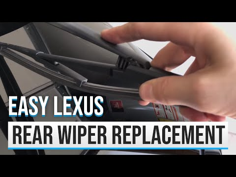 2010 LEXUS RX350 REAR WIPER REPLACEMENT | How to replace the hidden rear wiper