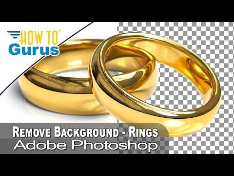 Remove Background from Photo of Wedding Rings using Pen Tool and Path Adobe Photoshop CC Tutorial