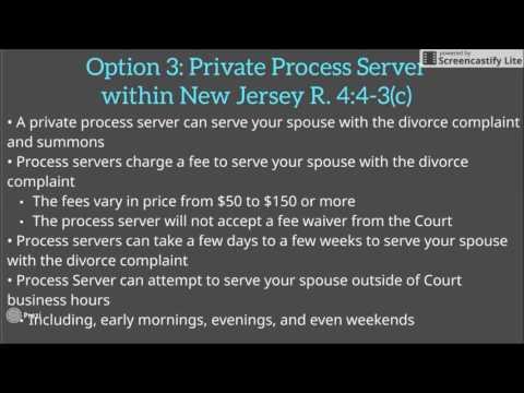 Process Service for Divorce in NJ
