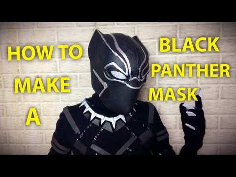 Make A DIY Black Panther Mask!
