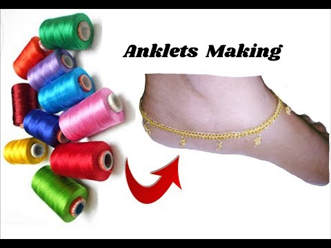 How to make Anklets with silk thread | jewellery tutorials