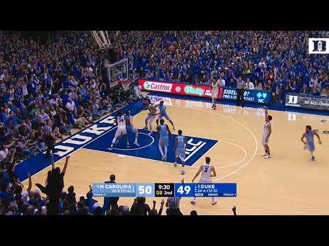 Duke's 2nd Half Comeback vs. UNC (3/3/18)