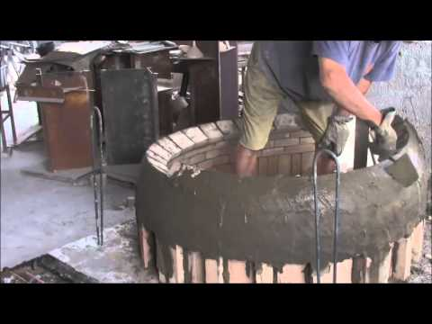 Domestic pizza wood oven in refractory brick - Build video Sforza Forni