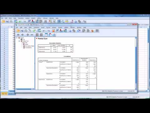 Calculating and Interpreting Partial Correlations in SPSS