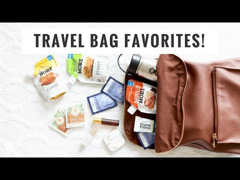 What's In My Bag! Healthy Travel Essentials! Healthy Grocery Girl