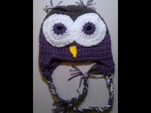 Crochet Owl Beanie  Video 2