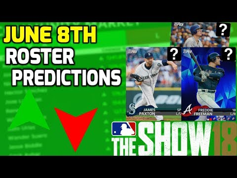 June 8th Roster Update Predictions! How To Make Stubs By Investing! MLB The Show 18 Diamond Dynasty