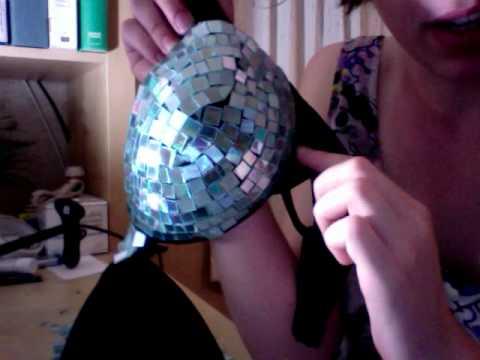 how to make a disco-ball bra