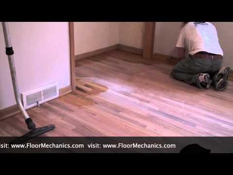 Hardwood Floor Refinishing - Tacking