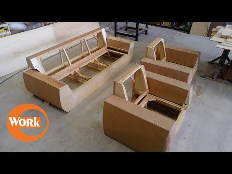 Estruturas de madeira para estofados/ Wooden frame for upholstery