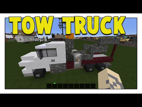 LETS BUILD A TOW TRUCK!! - Minecraft Tutorial