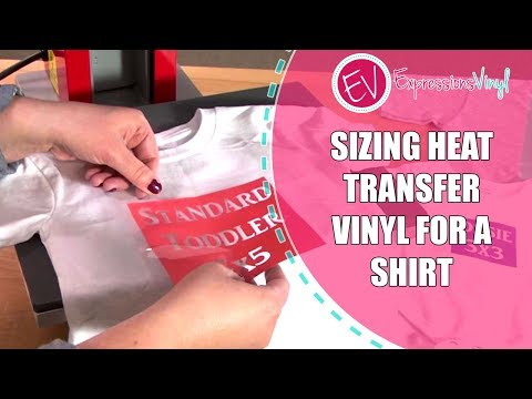 Sizing Heat Transfer Vinyl for a Shirt