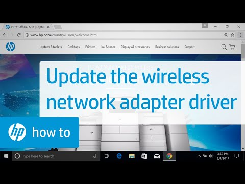 Updating the Wireless Network Adapter Driver with Windows Device Manager