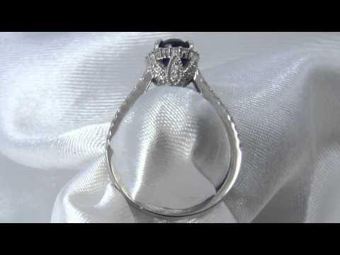 royal blue natural sapphire ring 3007