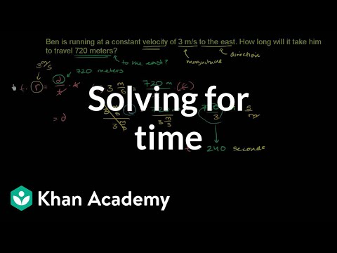 Solving for time | One-dimensional motion | Physics | Khan Academy