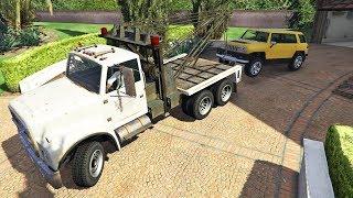 ماذا لو قمنا بسحب سيارة جيمي في جي تي أي 5   GTA V Tow Truck